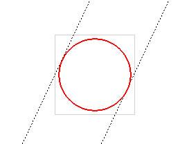 построение касательной прямой через точку кривой