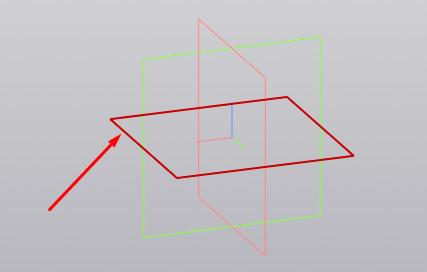 Выбор плоскости в окне модели